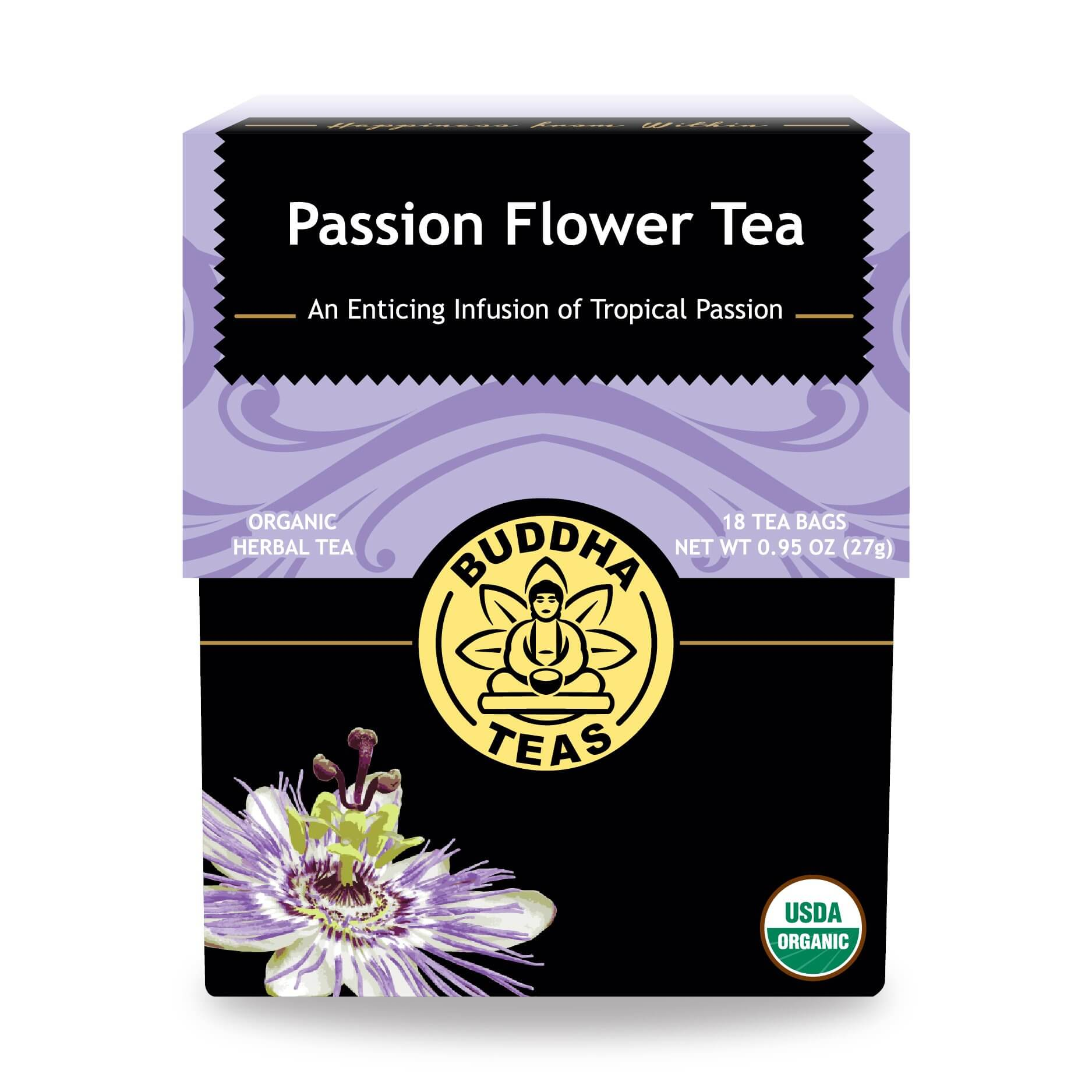 Buy Passion Flower Tea Bags Enjoy Health Benefits of Organic Teas