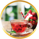 Cup of berry tea