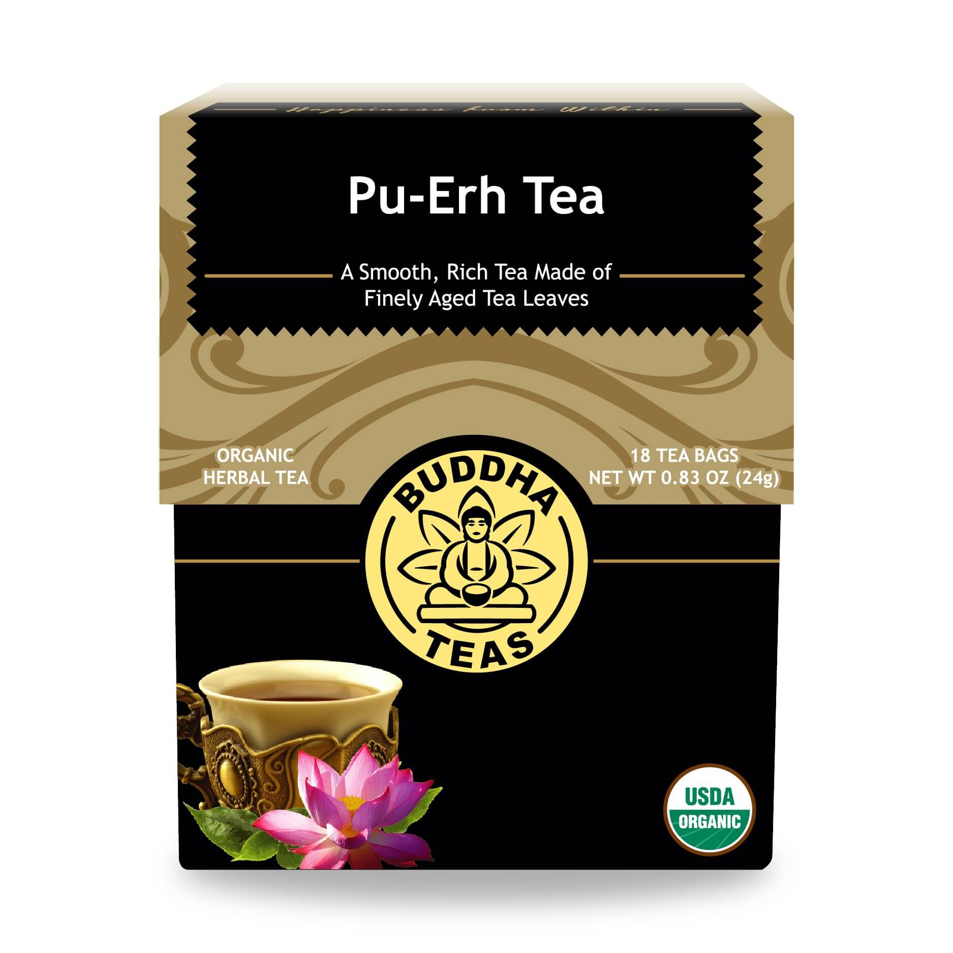 Pu Erh Tea Bags Enjoy Health Benefits Of Organic Teas Buddas